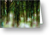 Karen Conine Greeting Cards - Misty Swamp Greeting Card by Karen Conine