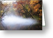 Fairmount Park Greeting Cards - Misty Wissahickon Creek Greeting Card by Bill Cannon