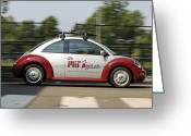 Mit Greeting Cards - Mit Agelab smartcar Vehicle Greeting Card by Volker Steger