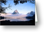 Kevin W .smith Greeting Cards - Mitre Peak Greeting Card by Kevin Smith