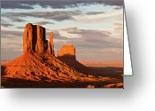 Monument Valley Photo Greeting Cards - Mittens Of Monument Valley Greeting Card by photo by p.Folrev
