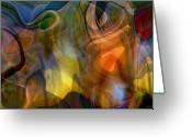 Vibrant Colors Greeting Cards - Mixed emotions Greeting Card by Linda Sannuti