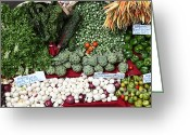 Farmers Markets Greeting Cards - Mixed Vegetables - 5D17086 Greeting Card by Wingsdomain Art and Photography