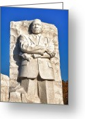 Martin Luther King Greeting Cards - MLK Memorial in Color Greeting Card by Val Black Russian Tourchin