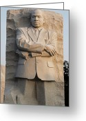 Martin Luther King Greeting Cards - MLK Memorial in Washington DC Greeting Card by Brendan Reals