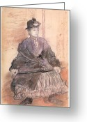 Portriat Greeting Cards - Mlls Sanlaville Greeting Card by Edgar Degas