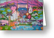 Motel Greeting Cards - mmmm... Palm Springs Greeting Card by Randall Weidner
