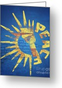 Featured Greeting Cards - Moar Peace Greeting Card by Laura Brightwood