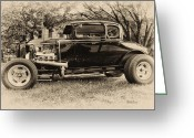 Model A Greeting Cards - Model A Ford Greeting Card by Bill Cannon