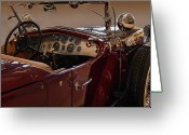 Cowl Greeting Cards - Model J LeBaron Dual Cowl Phaeton Greeting Card by Bill Dutting