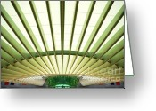 Train Photo Greeting Cards - Modern Architecture Greeting Card by Carlos Caetano