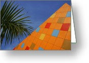 Florida House Greeting Cards - Modern Architecture Greeting Card by Susanne Van Hulst