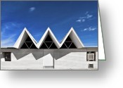Nice Day Greeting Cards - Modern Building Roofing Greeting Card by Eddy Joaquim