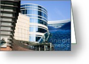 City Centre Greeting Cards - Modern Contemporary Buildings Greeting Card by Artur Bogacki