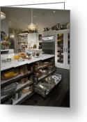 Cupboards Greeting Cards - Modern Kitchen Greeting Card by Robert Pisano