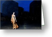 Fashion Photo Prints Greeting Cards - Modern Urban  Greeting Card by Kam Wong