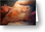 Artistic Nude  Greeting Cards - Modesto Greeting Card by Mark Ashkenazi