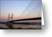 Mississippi River Scene Greeting Cards - Modified Suspension Greeting Card by Alan Look