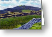 Flintshire Greeting Cards - Moel Famau Greeting Card by Edward McNaught-Davis