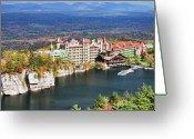 Enchanting Greeting Cards - Mohonk Mountain House Greeting Card by June Marie Sobrito