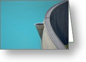 Hydroelectric Greeting Cards - Moiry Dam Greeting Card by Miguel Sotomayor
