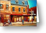 Delicatessans Greeting Cards - Moishes The Place For Steaks Greeting Card by Carole Spandau