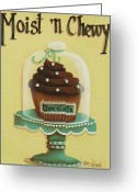 Kitchen Decor Greeting Cards - Moist n Chewy Greeting Card by Catherine Holman
