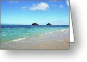 Lanscape Photo Greeting Cards - Mokulua Islands Greeting Card by Kelly Wade