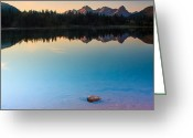 Fault Block Greeting Cards - Molas Lake Dawn Greeting Card by Paul Gana