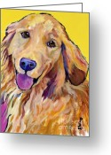 Dirty Dog Greeting Cards - Molly Greeting Card by Pat Saunders-White