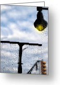 Traffic Light Greeting Cards - Mollys Window Greeting Card by Bob Orsillo