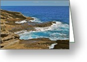 Molokai Greeting Cards - Molokai Lookout 0649 Greeting Card by Michael Peychich