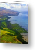 Molokai Greeting Cards - Molokai South Shore Greeting Card by Kevin Smith