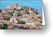 Ellenisworkshop Greeting Cards - Molyvos Lesvos Greece Greeting Card by Eric Kempson