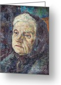 Physiognomy Greeting Cards - Mom Greeting Card by Aljo Beran