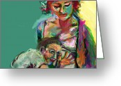 Kick Digital Art Greeting Cards - Mom Greeting Card by James Thomas
