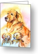 Puppies Greeting Cards - Mom Loves Us Greeting Card by Donna Martin