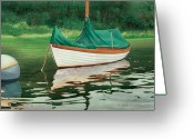 Mooring Greeting Cards - Moment of Reflection X Greeting Card by Marguerite Chadwick-Juner