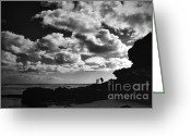 Beach Towel Photo Greeting Cards - Momentary Bliss Greeting Card by Andrew Paranavitana