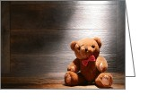 Wood Floor Greeting Cards - Mon Petit Ours Greeting Card by Olivier Le Queinec