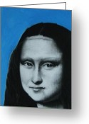 Paris Pastels Greeting Cards - Mona Lisa Greeting Card by Anastasis  Anastasi