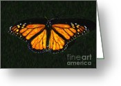 Royalty Digital Art Greeting Cards - Monarch Butterfly Greeting Card by Wingsdomain Art and Photography