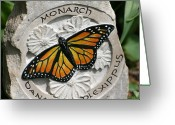 Style Reliefs Greeting Cards - Monarch Greeting Card by Ken Hall
