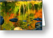 Fall Photographs Greeting Cards - Monet Autumnal Greeting Card by Aimelle