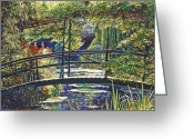 Featured Landscape Art Greeting Cards - Monet Greeting Card by David Lloyd Glover