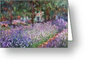 Turn Of The Century Greeting Cards - Monet: Giverny, 1900 Greeting Card by Granger
