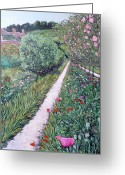 Tr Roderick Greeting Cards - Monets Garden Path Greeting Card by Tom Roderick
