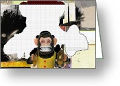 Monkey Greeting Cards - Monkey See Monkey Do Greeting Card by Michel  Keck