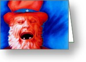 Hatter Greeting Cards - Monkeys Uncle Greeting Card by Robert Martinez
