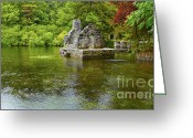 Raining Greeting Cards - Monks fishing house at Cong Abbey Greeting Card by Gabriela Insuratelu